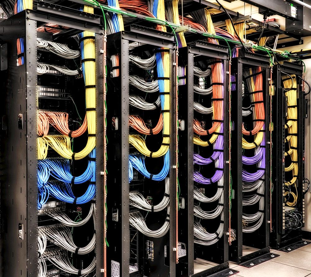 Pinellas-County-Public-Safety-Complex-Data-Rack New Home Network Wiring Design on